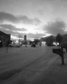 A beautiful snowy evening.