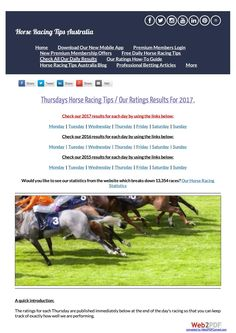 Thursdays March 23rd Horse Racing Tips Today's Results