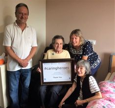 Riversway resident Jean is a 'caring hero' - Springhill Care Group Lancashire