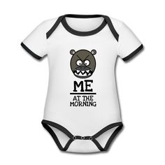 Morgenmuffel Baby Bio-Kurzarm-Kontrastbody  Baby Kurzarm-Body mit Kontrastsäumen aus 100% Bio-Baumwolle. Marke: Sonar Baby Accessories, Onesies, Clothes, Design, Fashion, Kaffee, Gifts, Cotton, Kids