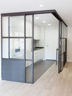 A simple floor with practical decoration - Trend Home Sheshed 2019 Home Decor Kitchen, Kitchen Interior, Interior Windows, Industrial House, Industrial Kitchen Design, Small Apartments, Living Spaces, Sweet Home, New Homes
