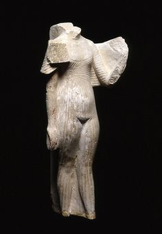 Statue of an Amarna Princess, probably from Amarna, Dynasty 18, reign of Akhenaten (1353-1336 BCE), limestone and pigment. Amarna art placed considerable emphasis on the six daughters of Akhenaten and Nefertiti: Meritaten, Meketaten, Ankhesenpaaten, Nefernefruaten Tasherit, Nefernefrure and Setepenre. Photo by the Penn Museum..