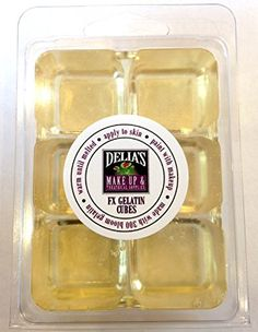 Professional FX Makeup Gelatin Cubes 4 oz CLEAR  A Safe Alternative to Latex FX Makeup Skin effects Scars Prosthetics EASY * Find out more about the great product at the image link. (Note:Amazon affiliate link)