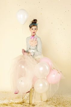 My new party dress: just some tulle with balloons and I'm good to go!!!