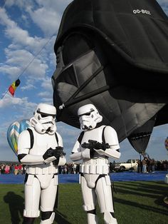 Droid1: Lord vader just txted me from the Death Star. He wants the spanish omlette with his morning ride.  Droid2: Curse his hot air balloon fetish, we'll never get back to Dathomir in time for iron chef.