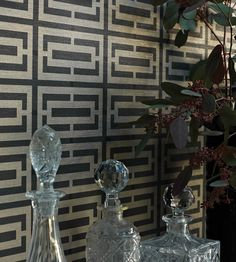 Osborne And Little Kikko Trellis Wallpaper From The Metropolis Vinyls 2 Collection Find Out How Many Rolls You Require With Our Calculator