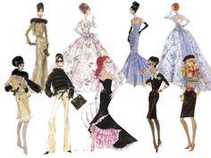 (¯`'•.ೋ…  Barbie Illustration  ...............................by Robert Best. Vintage Barbie prints
