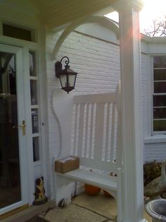 Custom front porch benches