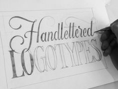 Handlettered Logotypes- Sketch designed by Ged Palmer. the global community for designers and creative professionals. Calligraphy Letters, Typography Letters, Typography Design, Hand Lettering, Type Design, Logo Design, Graphic Design, Letter Art, Letter Logo