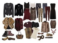 Leopard, Oxblood and Black by aurastesia on Polyvore featuring polyvore fashion style Warehouse Object Collectors Item River Island Balmain Lee Abercrombie & Fitch maurices Old Navy Jofama Pierre Balmain dVb Victoria Beckham Forever 21 H&M Current/Elliott Dr. Martens Missguided Vans Time's Arrow Forever New FAUSTO PUGLISI Dolce&Gabbana Express clothing