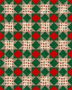 Gingerbread and Christmas Pre Cut Quilt Block Kits