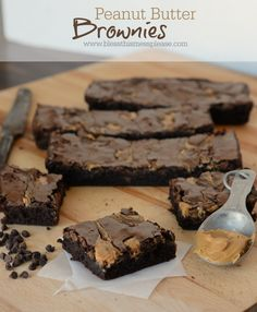 Rich Peanut Butter Brownies | Bless this Mess