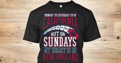 Show your love for California and the New England Patriots!