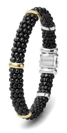 Black Caviar 18k Gold Best-Selling Bracelet