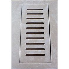 Porcelain vent cover made to match Sydney Ivory tile. Size - 5-inch x 11-inch