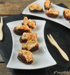 Dátiles rellenos de crema de queso y zanahoria | L'Exquisit