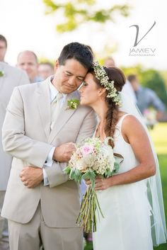 Bride and Father of the Bride, Samson Estates Winery Wedding Photography, Jamie V Photography