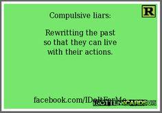 Compulsive Liar Ecard Compulsive liars: rewritting