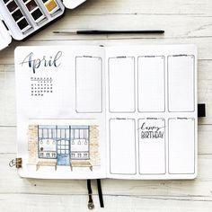 Bullet Journal weekly April 2020⠀⠀⠀⠀ ⠀ #bujoweekly #weeklyspread Bullet Journal, Weekly Spread, Happiness, Birthday, Confetti, Pictures, Birthdays, Bonheur, Being Happy