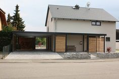 Carport Garage, Pergola Carport, Balcony Design, Patio Design, Modern Exterior House Designs, Carport Designs, Home Upgrades, Facade House, House Front