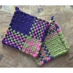 Woven Potholders -Cotton Potholders ($11) via Polyvore featuring home, kitchen & dining, kitchen linens, woven pot holders, woven potholders, cotton potholders and cotton pot holders