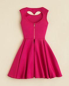 Miss Behave Girls' Heart Back Scuba Dress - Sizes S-XL | Bloomingdale's