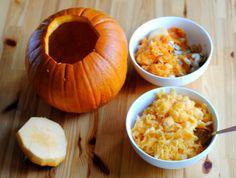 HOW TO: Make and serve pumpkin soup in a tureen made from its own shell Pumpkin Stew, Diy Pumpkin, Autumn Cooking, Halloween Kitchen, Soup, Thanksgiving, Vegetarian, Vegetables, Fall