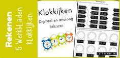 In deze blog vind je 5 werkbladen om het digitale en analoge klokkijken te kunnen oefenen.