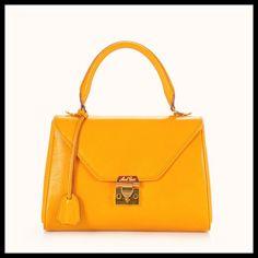 Mark Cross Yellow Scottie Collection Top Handle bag