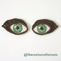 Free Crochet Pattern Oval Eye : Oval shaped eye - free pattern Crocheted Toys/Amigurumi ...