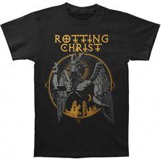 Rotting Christ: Satanica (tricou) Rotting Christ, Thrash Metal, Mens Tops, T Shirt, Products, Outfits, Supreme T Shirt, Tee Shirt, Tee