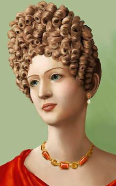 Roman coiffure in time of Flavian emperors