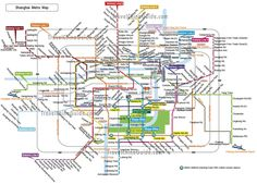 Maps of Shanghai China: Streets, Subway Lines, Attractions, City ...