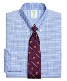 Non-Iron Extra-Slim Fit BrooksCool® Ground Check Dress Shirt. -Brooks Brothers