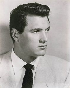 A young and handsome, Rock Hudson (1925-1985) American actor. Hudson is generally known for his turns as a leading man in the 1950s and 1960s.