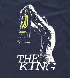 T-Shirt For Lionel Messi Fans Design The King Barcelona Epic Celebration