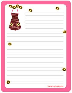 free printable stationery paper   ... mom so she can use it as kitchen stationery or note pad stationery