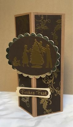 Kerstin's kleine Bastelwelt: Idyllischer Weihnachtsabend! SU, decorative corner card, SU es weihnachtet sehr, SU welcome Christmas