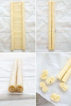 Ventagli di pasta sfoglia