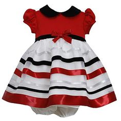 Ashley Ann Infant & Toddler Girl's Occasion Dress & Diaper Cover - Striped