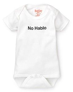 Sara Kety Infant Unisex No Hablo Bodysuit - Sizes 0-18 Months