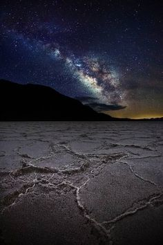 Bonneville Salt Flats at night, Utah near Salt Lake City. One of my favorite places to photograph