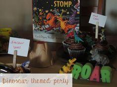 We had a dino party to celebrate Carol Diggory Shield's book Saturday night at the Dinosaur Stomo