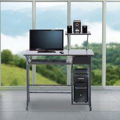 Tesco direct: Homcom Desk Office Workstation Black or Dark walnut