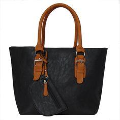 Patzino Fashion Collection, Faux Leather Women's Tote Handbag Black-Tan PATZINO http://www.amazon.com/dp/B00HBGNR4M/ref=cm_sw_r_pi_dp_TArBub097ER5N