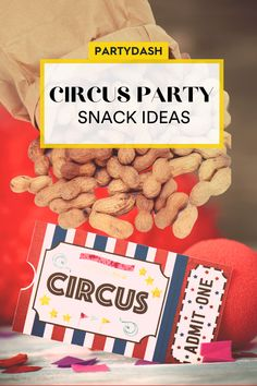 5 Circus-Themed Snacks to Put On the Greatest Show Circus Party Decorations, Circus Theme Party, Circus Birthday, Birthday Parties, Carnival Party Foods, Party Food Themes, Party Snacks, Party Ideas, Cotton Candy Drinks