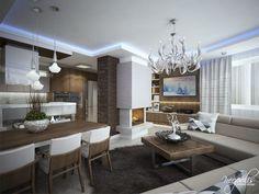 Výrazný luster ako dominanta v obývačke Bratislava, Luster, Glamour, The Shining