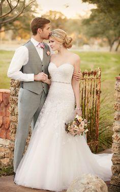 Strapless A-line wedding dress by Essense of Australia D2122http://www.himisspuff.com/wedding-dresses-2017-from-essense-of-australia/9/