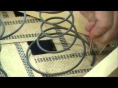 Upholstery Springs: How to fasten Coil Springs step two