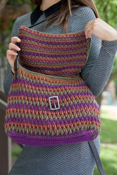 Crocheted Bag - interweave crochet - fall 2013